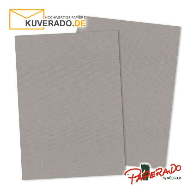 Paperado Briefkarton in taupe grau DIN A4 220 g/qm