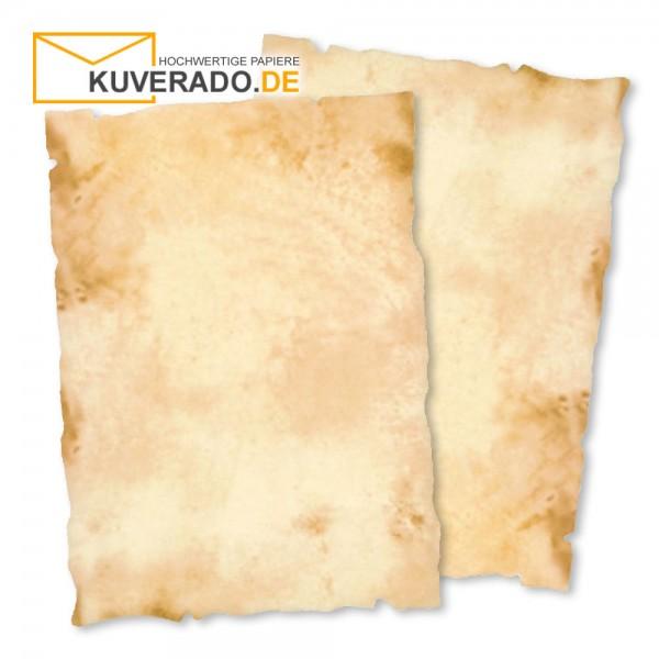 Urkundenpapier DIN A4 beige marmoriert