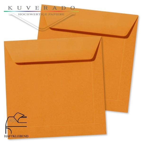 orange Briefumschläge im Format quadratisch 160x160 mm