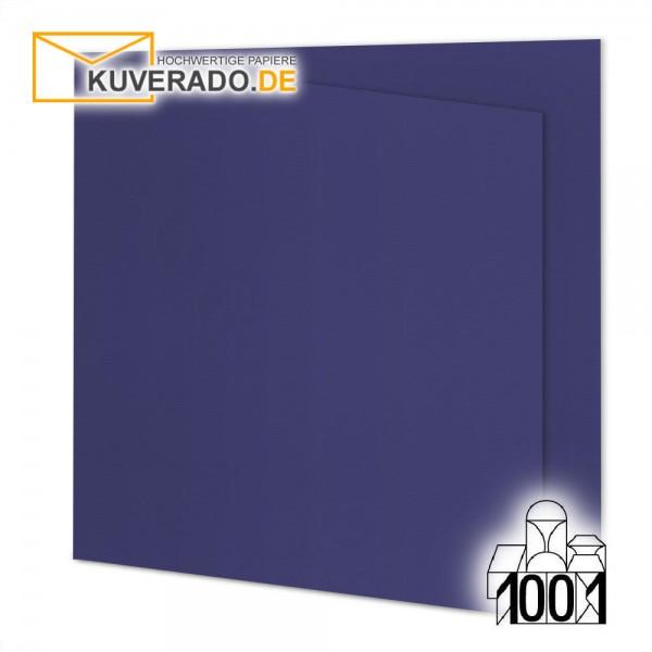 Artoz 1001 Faltkarten indigoblau quadratisch 13x13 cm mit Wasserzeichen