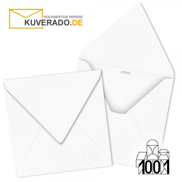 Artoz 1001 Briefumschläge Blütenweiß quadratisch 135x135 mm