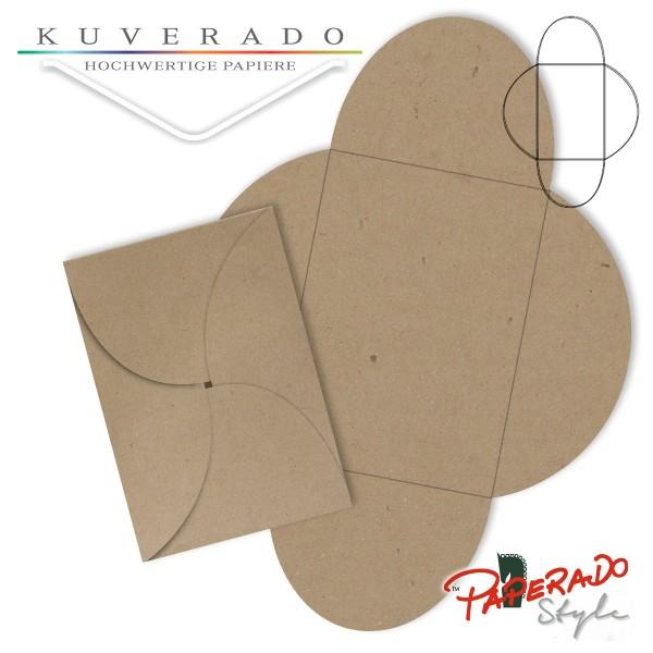 PAPERADO Style - Flügelkarte aus braunem Kraftpapier