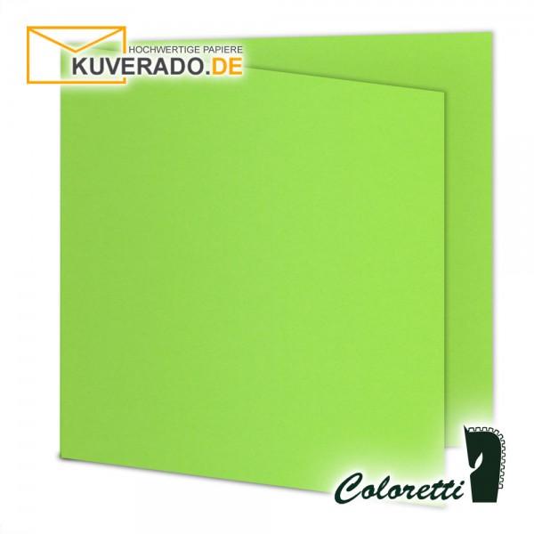 Grüne Doppelkarten in quadratisch 220 g/qm von Coloretti