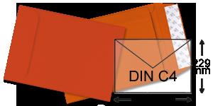 orange Briefumschläge im Format DIN C5