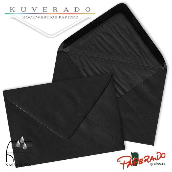 Paperado Briefumschläge in schwarz DIN C6