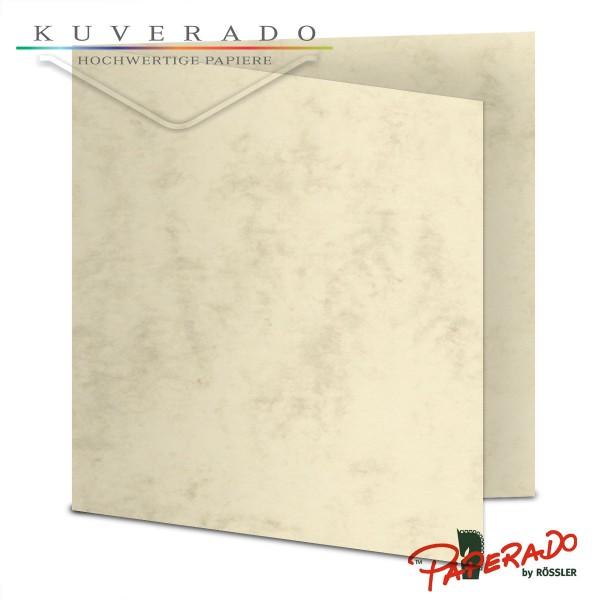 Paperado Karten in beige marmoriert quadratisch