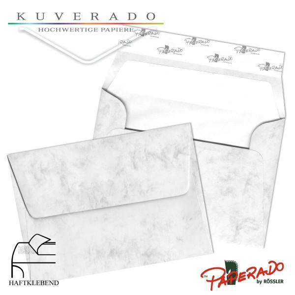 Paperado marmorierte Briefumschläge in grau DIN C6