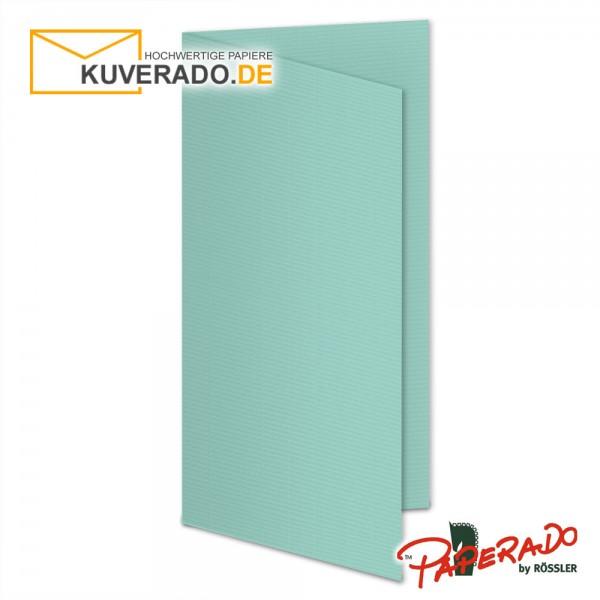 Paperado Karten in karibik blau DIN lang