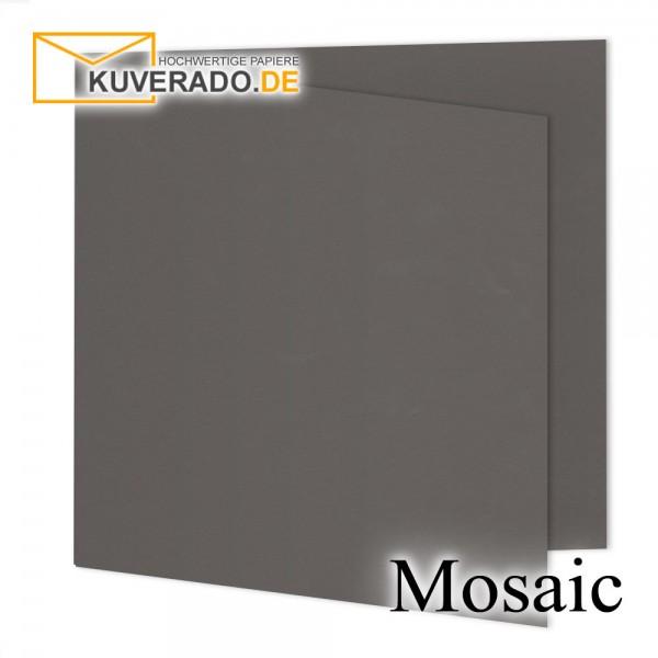 Artoz Mosaic graphitgraue Doppelkarten quadratisch