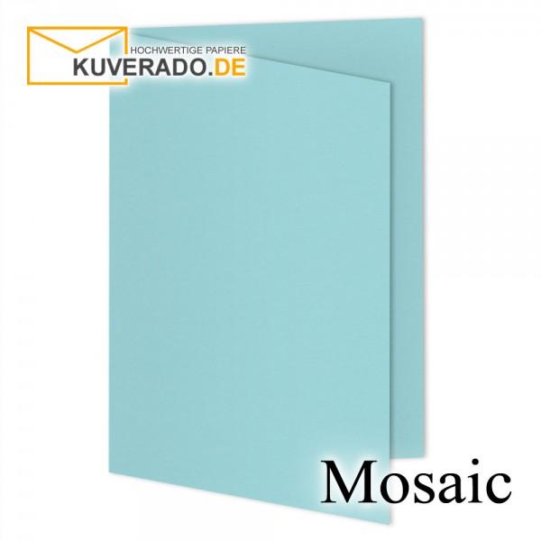 Artoz Mosaic hellblaue Doppelkarten DIN A6