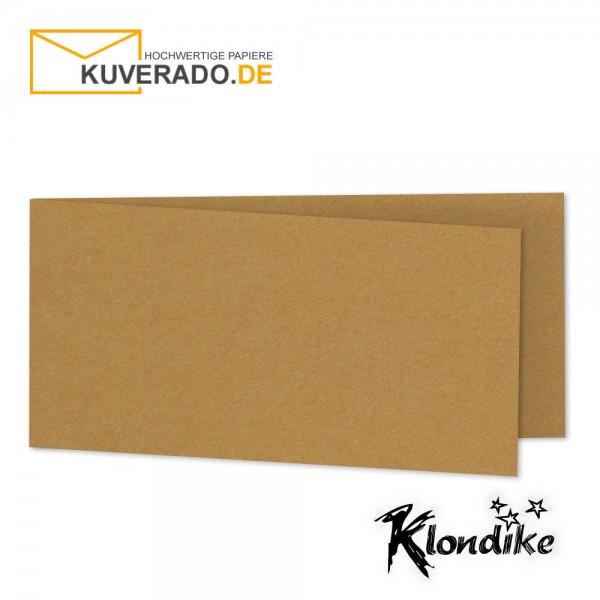 Artoz Klondike Karten in rotgold-metallic DIN lang