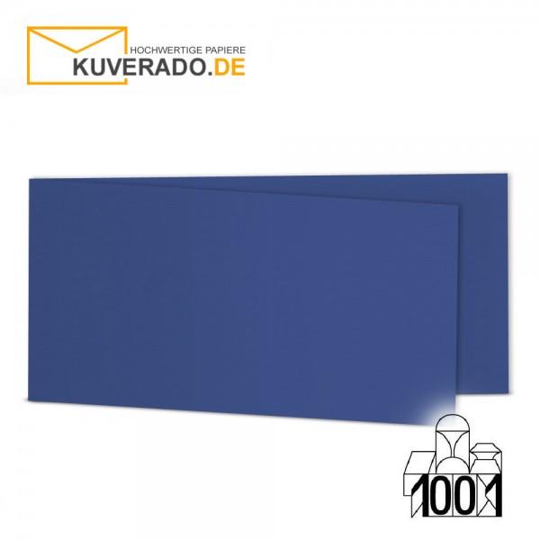 Artoz 1001 Faltkarten royalblau DIN lang Querformat mit Wasserzeichen