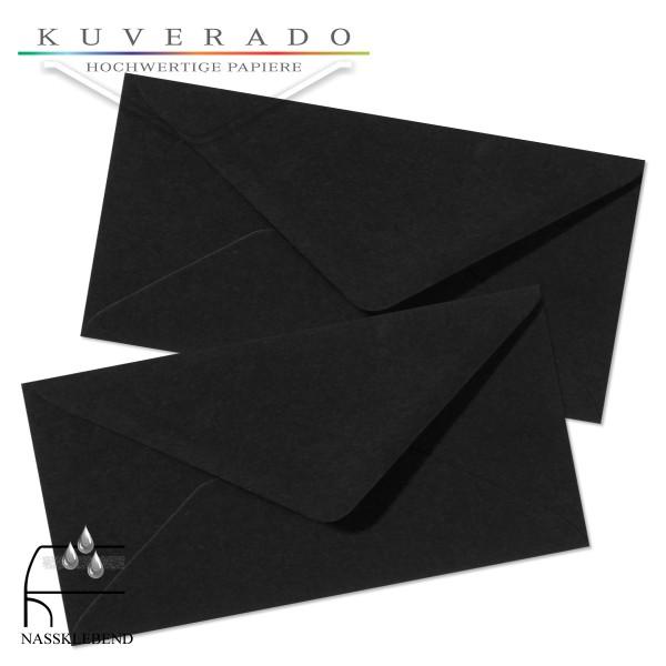 schwarze Briefumschläge im Format DIN lang
