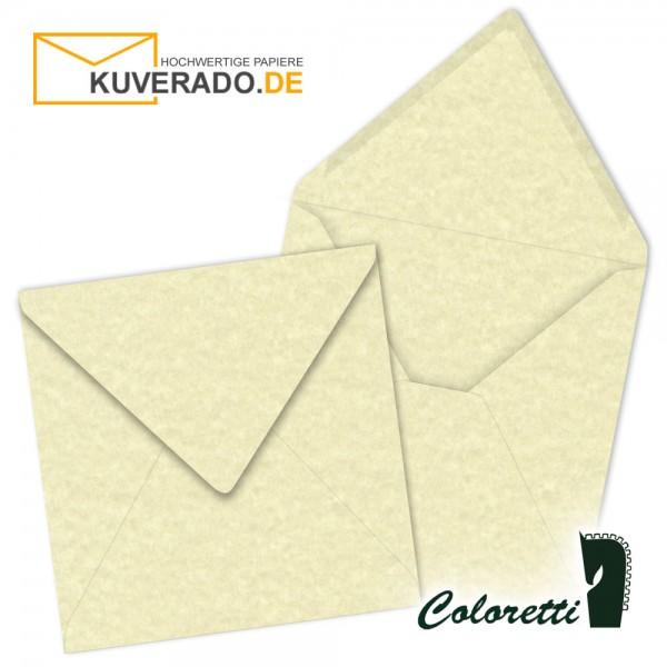 Beige marmorierte Briefumschläge in sandgelb quadratisch von Coloretti