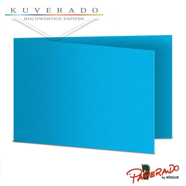 Paperado Karten in pacifik blau DIN B6 Querformat
