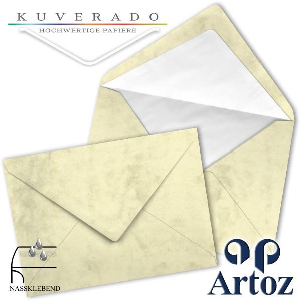 Artoz Antiqua marmorierte Briefumschläge chamois DIN C5