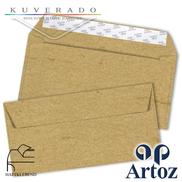 Artoz Rustik marmorierte Briefumschläge chamois DIN C6/5