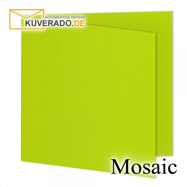 Artoz Mosaic neon-lime Doppelkarten quadratisch