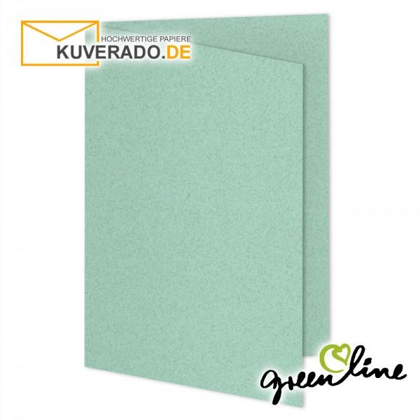 ARTOZ Greenline pastell   Recycling Faltkarten in misty-green DIN A5