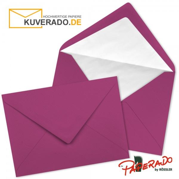 Paperado Briefumschläge in amarena lila DIN C7