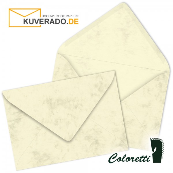 Beige DIN C7 Briefumschläge in chamois von Coloretti