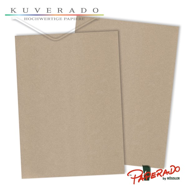 Paperado Briefpapier in metallic grau DIN A4 250 g/qm