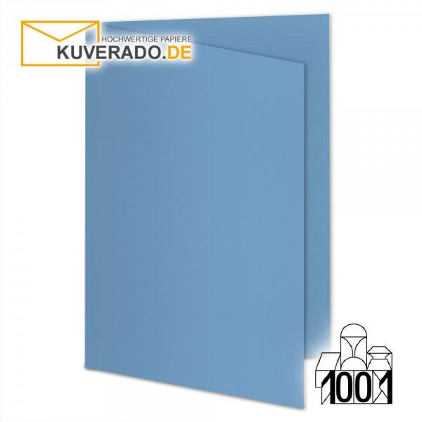 Artoz 1001 Faltkarten marienblau DIN A6 mit Wasserzeichen