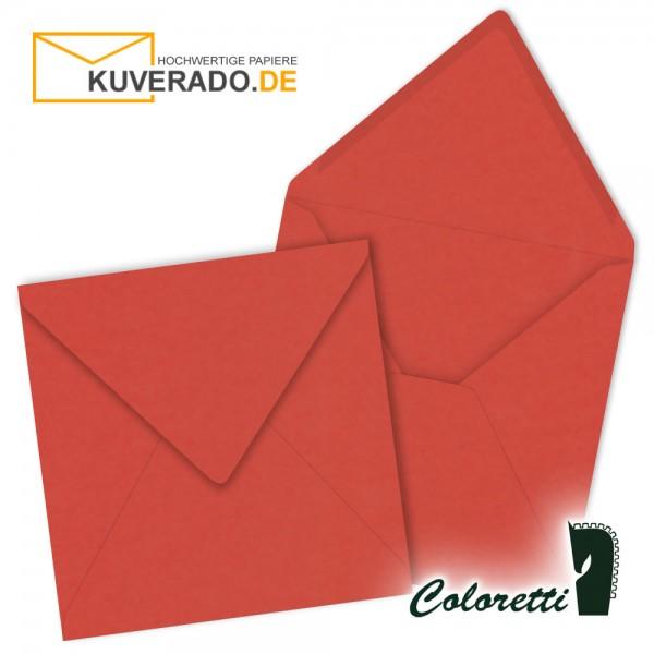 Rote Briefumschläge in klatschmohn quadratisch von Coloretti