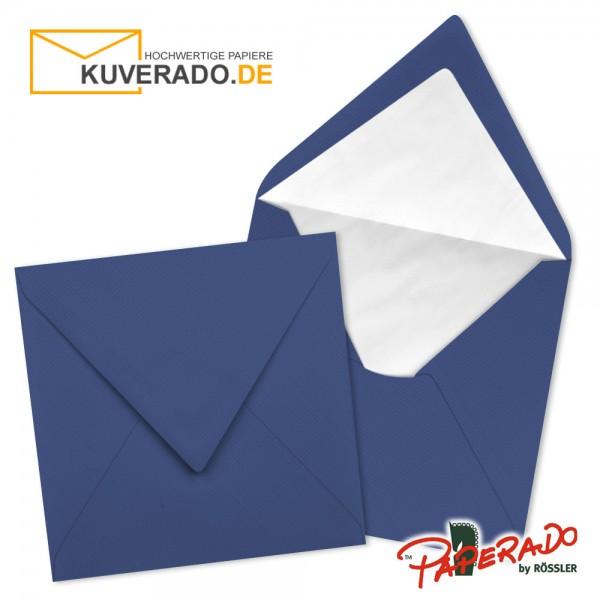 Paperado quadratische Briefumschläge in jeansblau 164x164 mm