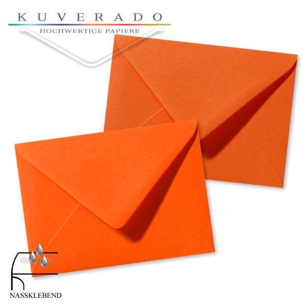 orange Briefumschläge im Format 110 x 156 mm
