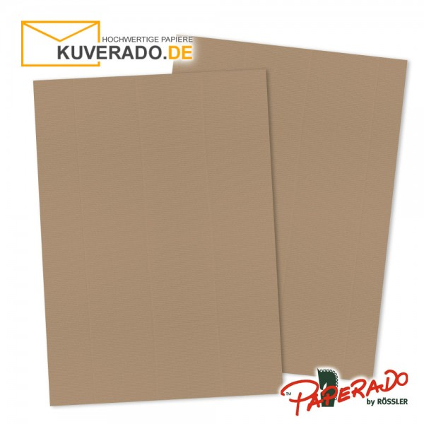Paperado Briefkarton in haselnussbraun DIN A4 220 g/qm
