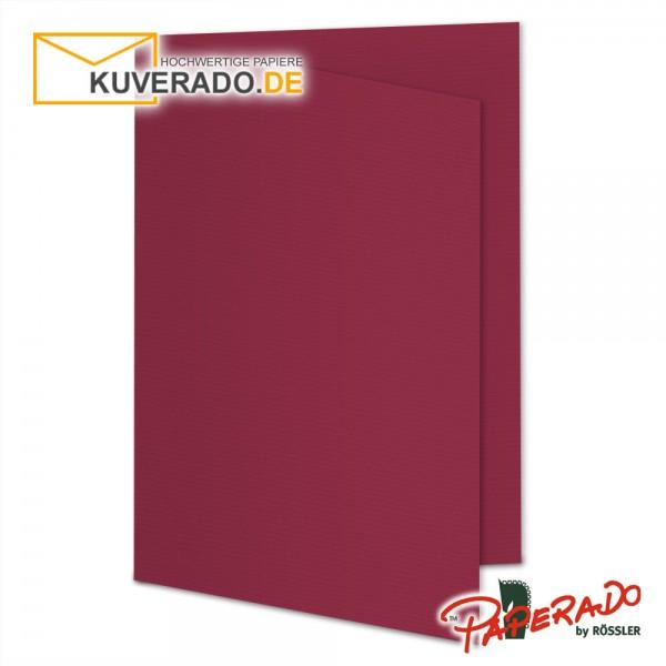 Paperado Karten in rosso rot DIN B6