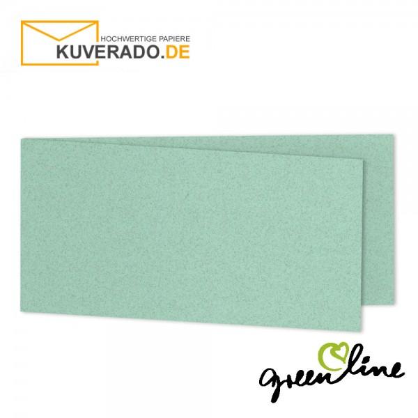 ARTOZ Greenline pastell | Recycling Faltkarten in misty-green DIN lang