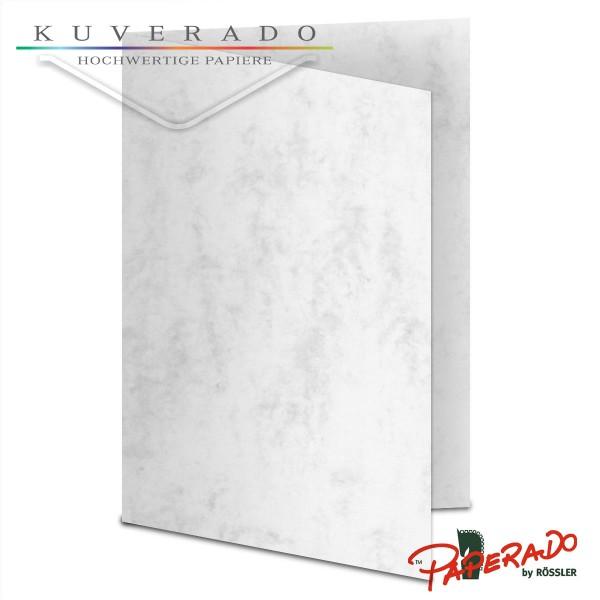 Paperado Karten in grau marmoriert DIN B6