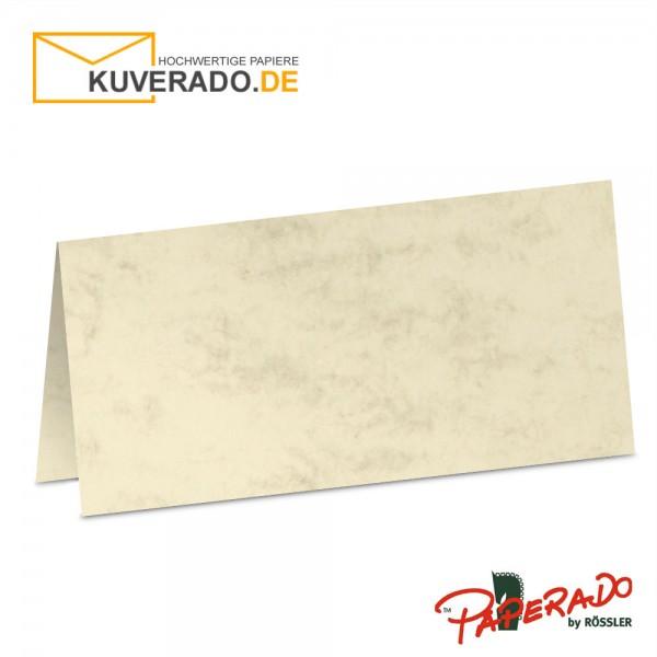 Paperado Tischkarten in chamois marmoriert