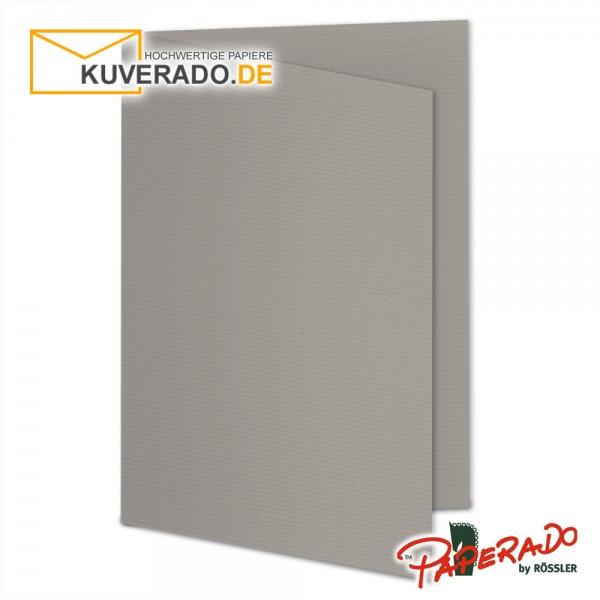 Paperado Karten in taupe grau DIN A5