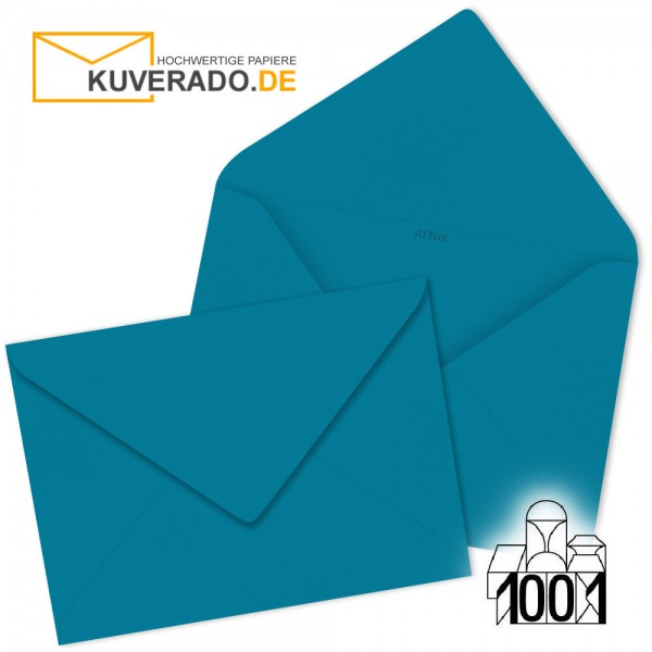 Artoz 1001 Briefumschläge petrol-blau 75x110 mm