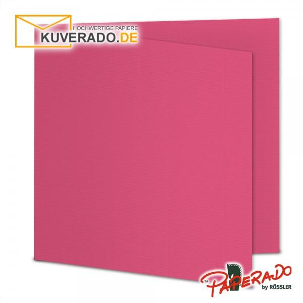 Paperado Karten in fuchsia rosa quadratisch