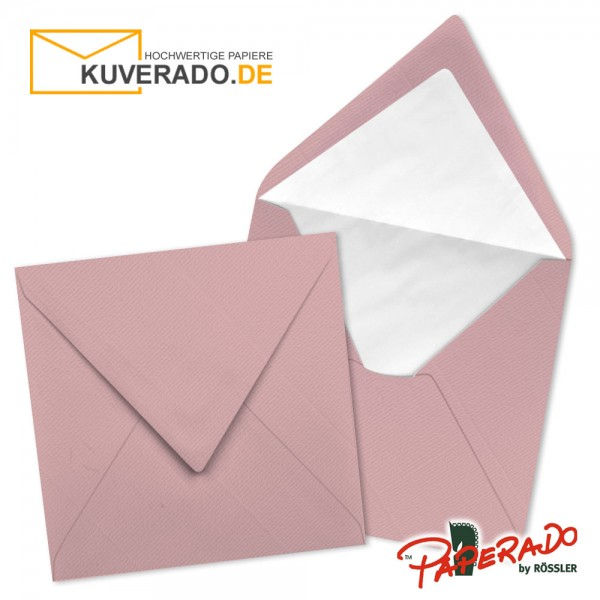Paperado quadratische Briefumschläge in rosen rosa 164x164 mm