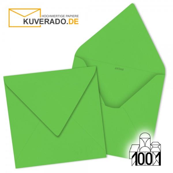 Artoz 1001 quadratische Briefumschläge maigrün 135x135 mm