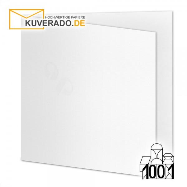 Artoz 1001 Faltkarten blütenweiß quadratisch 13x13 cm mit Wasserzeichen