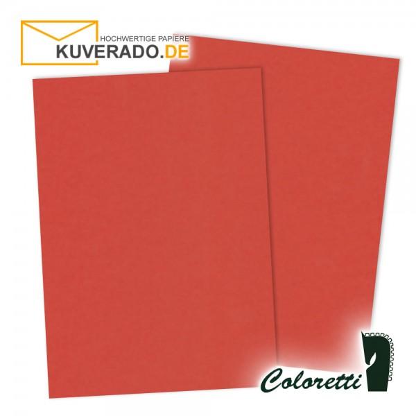 Rotes Briefpapier in klatschmohn 165 g/qm von Coloretti