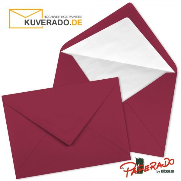 Paperado Briefumschläge in rosso rot 157x225 mm