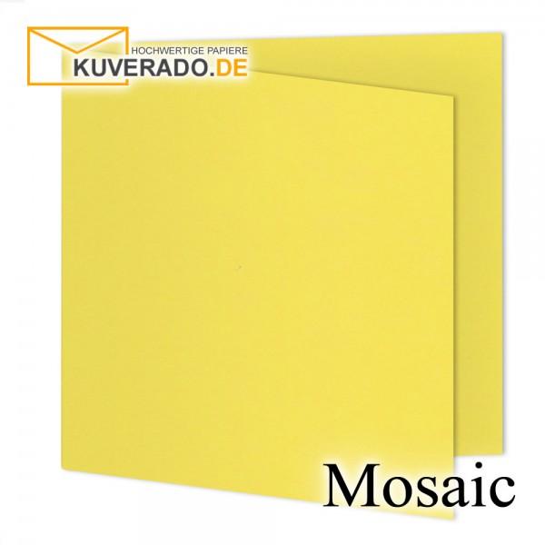 Artoz Mosaic gelbe Doppelkarten quadratisch