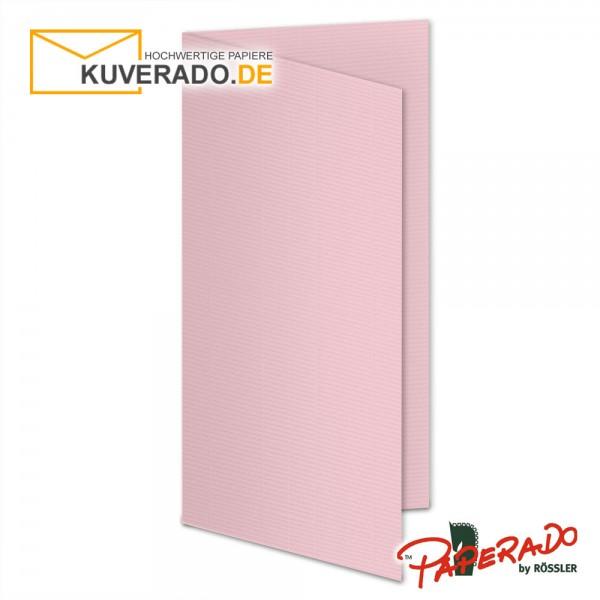 Paperado Karten in flamingo rosa DIN lang