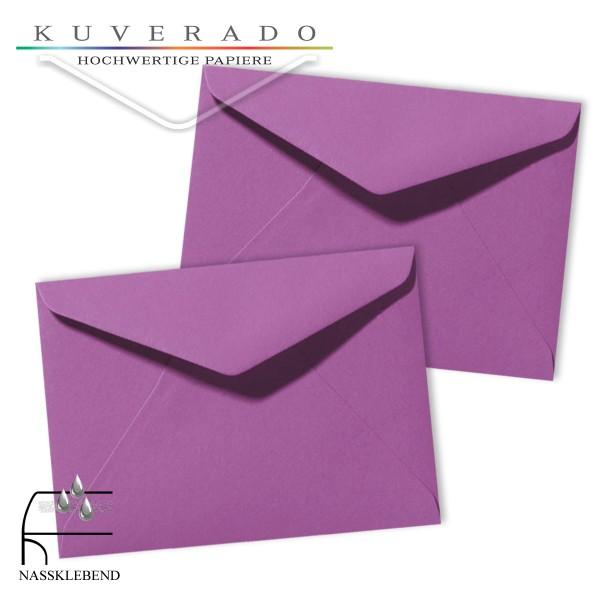 Lila Briefumschläge (violett) im Format 130 x 180 mm