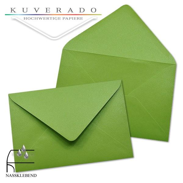 glänzende metallic Briefumschläge in grün im Format 120 x 180 mm