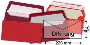 110x220 mm (DIN lang)   rot
