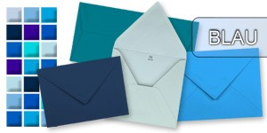 Blaue Briefumschläge