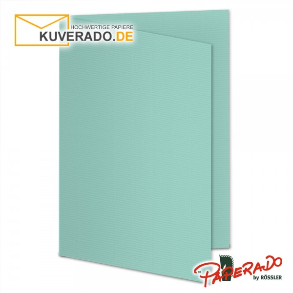 Paperado Karten in karibik blau DIN A5